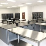 65 - Metal Casework, Tall Casework, Lab Tables, Fixed Lab Islands, Stainless Steel