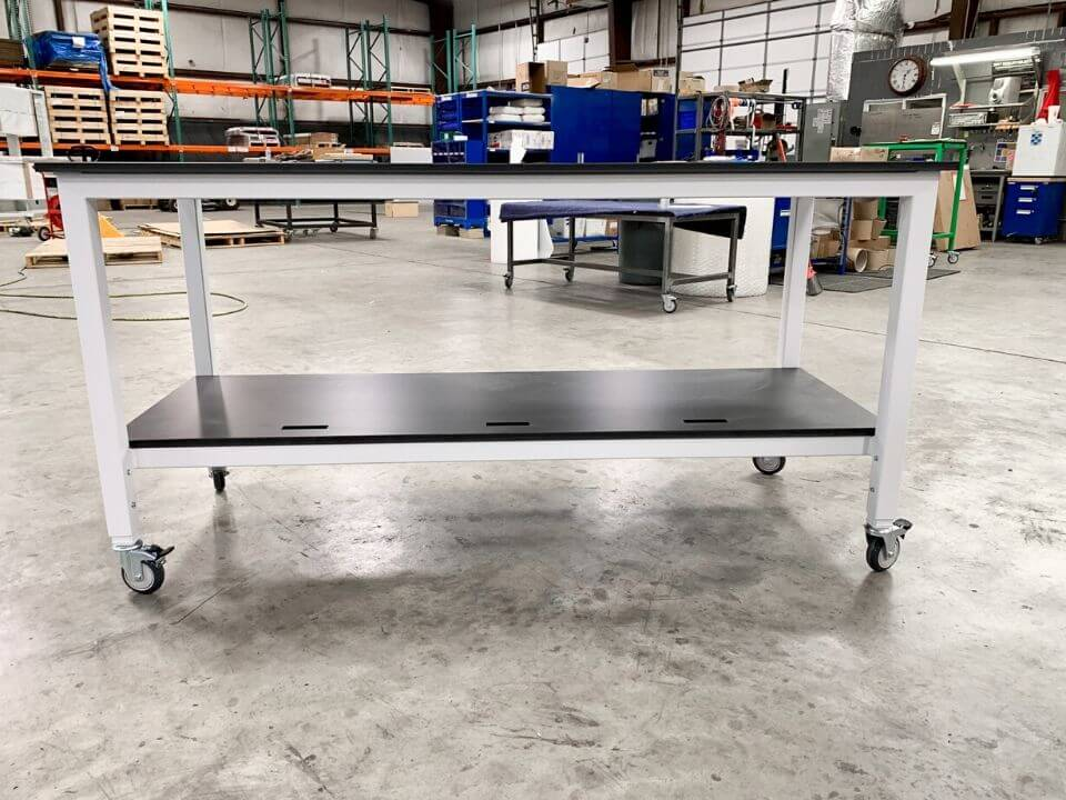 lab table with wheels
