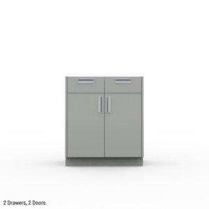 2 drawer, 2 door cabinet