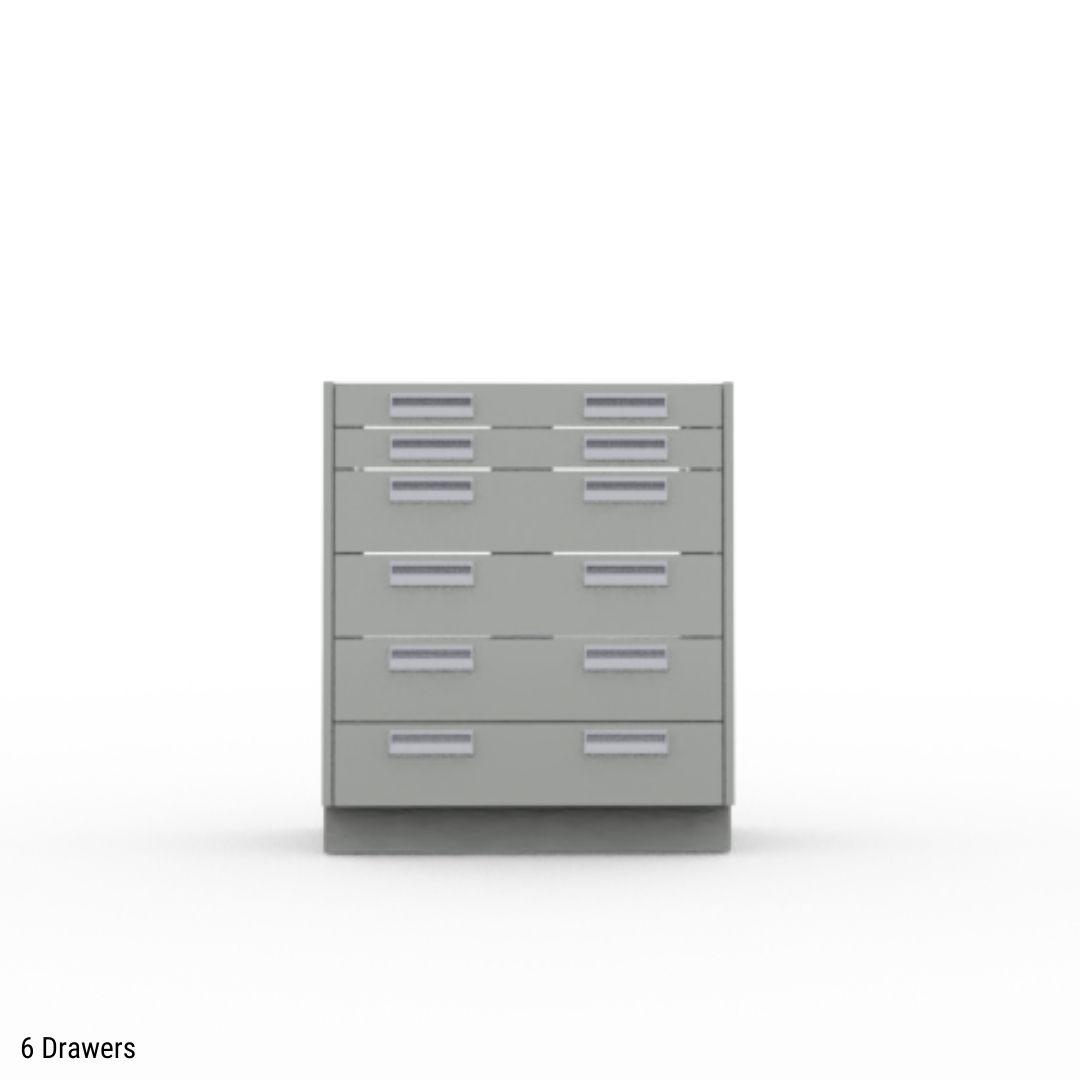 6 drawer base cabinet